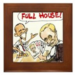 Putin And Obama Poker Framed Tile