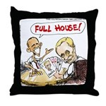Putin And Obama Poker Throw Pillow