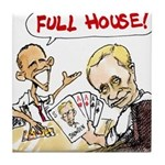 Putin And Obama Poker Tile Coaster