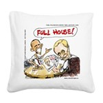 Putin And Obama Poker Square Canvas Pillow