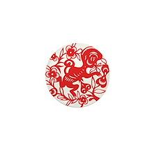 Zodiac, Year of the Monkey Mini Button