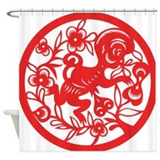 Zodiac, Year of the Monkey Shower Curtain