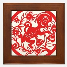 Zodiac, Year of the Monkey Framed Tile