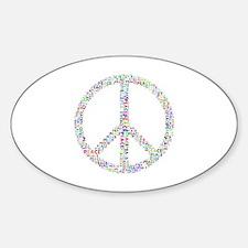 Cute Purple peace sign Sticker (Oval)