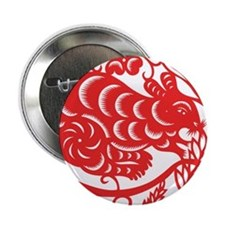 """Zodiac, Year of the Mouse 2.25"""" Button"""