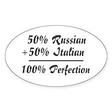 Half Italian, Half Russian Oval Decal
