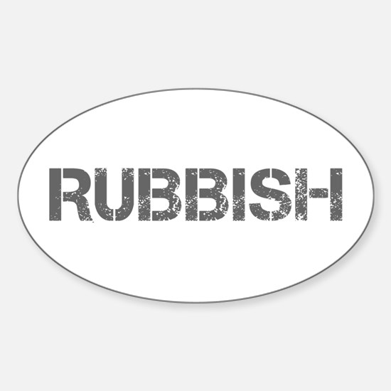rubbish-CAP-GRAY Decal