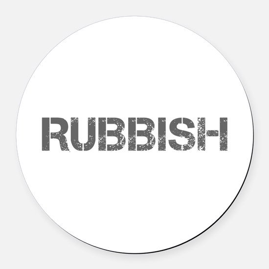 rubbish-CAP-GRAY Round Car Magnet