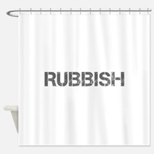 rubbish-CAP-GRAY Shower Curtain