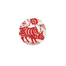 Zodiac, Year of the Ox Mini Button