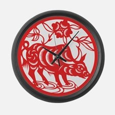 Zodiac, Year of the Ox Large Wall Clock