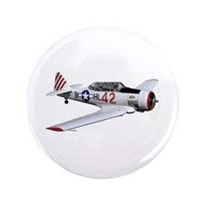 """T-6 Texan Trainer 3.5"""" Button (100 pack)"""
