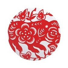 Zodiac, Year of the Pig Ornament (Round)