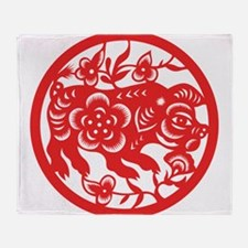 Zodiac, Year of the Pig Throw Blanket