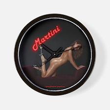 Neon Martini Wall Clock