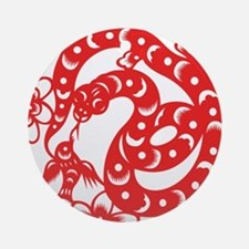 Zodiac, Year of the Snake Ornament (Round)