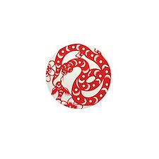 Zodiac, Year of the Snake Mini Button