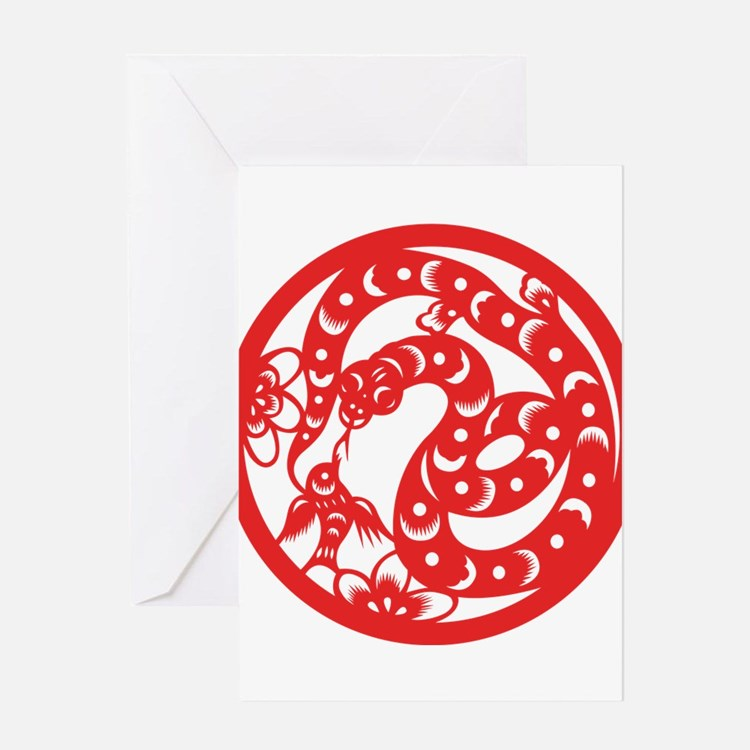 Zodiac, Year of the Snake Greeting Cards