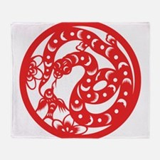 Zodiac, Year of the Snake Throw Blanket