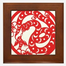 Zodiac, Year of the Snake Framed Tile