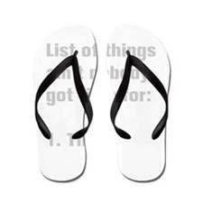 list-of-things-akz-gray Flip Flops