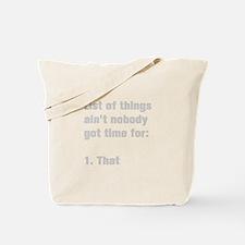 list-of-things-akz-gray Tote Bag