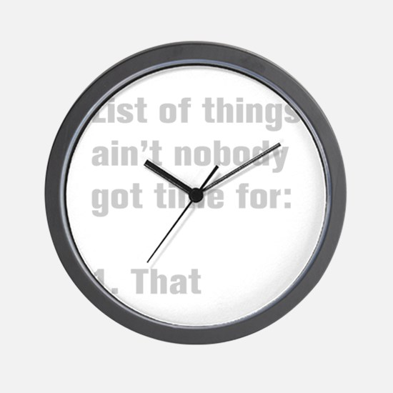 list-of-things-akz-gray Wall Clock