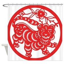 Zodiac, Year of the Tiger Shower Curtain