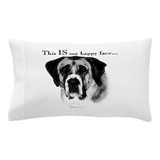 Saint Bernard Happy Face Pillow Case