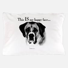 Saint Bernard Happy Face Pillow Case