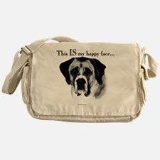 Saint Bernard Happy Face Messenger Bag