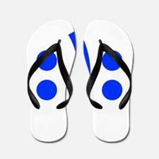 BIPOLAR-SMILEY-fut-blue Flip Flops