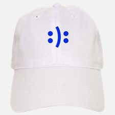 BIPOLAR-SMILEY-fut-blue Baseball Baseball Baseball Cap