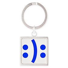 BIPOLAR-SMILEY-fut-blue Keychains