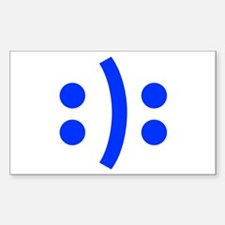 BIPOLAR-SMILEY-fut-blue Decal