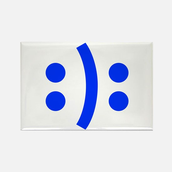 BIPOLAR-SMILEY-fut-blue Magnets