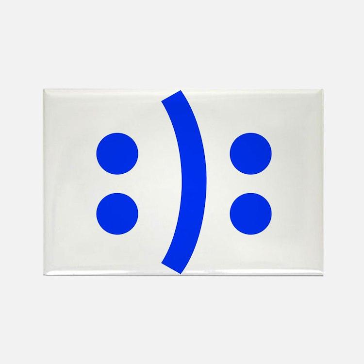 BIPOLAR-SMILEY-fut-blue Magnets
