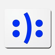 BIPOLAR-SMILEY-fut-blue Mousepad