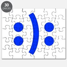 BIPOLAR-SMILEY-fut-blue Puzzle