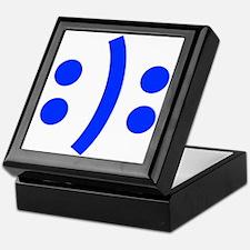 BIPOLAR-SMILEY-fut-blue Keepsake Box