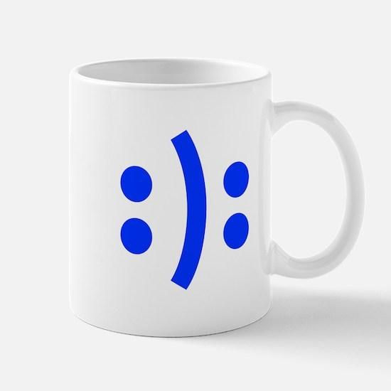 BIPOLAR-SMILEY-fut-blue Mugs