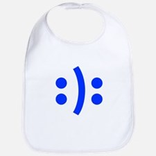 BIPOLAR-SMILEY-fut-blue Bib