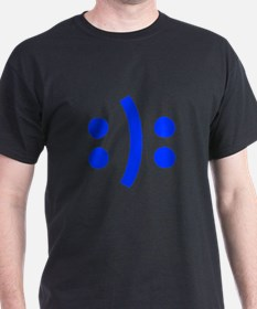 BIPOLAR-SMILEY-fut-blue T-Shirt