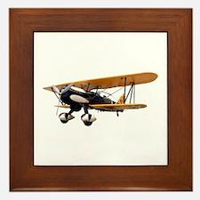 P-6 Hawk Biplane Aircraft Framed Tile
