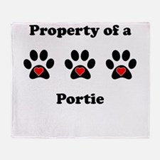 Property Of A Portie Throw Blanket