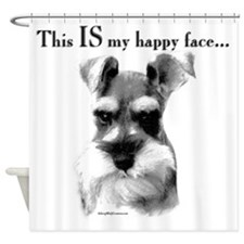 Schnauzer Happy Face Shower Curtain