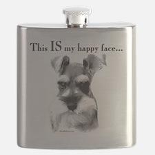 Schnauzer Happy Face Flask