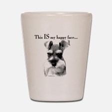 Schnauzer Happy Face Shot Glass
