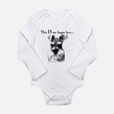 Schnauzer Happy Face Body Suit