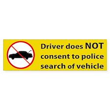 No Consent Bumper Bumper Sticker